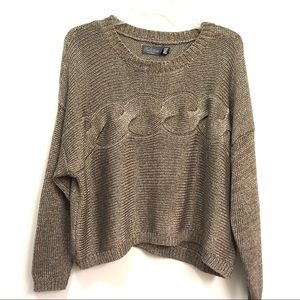 Costa Blanca Collection | Gold/Brown tone sweater